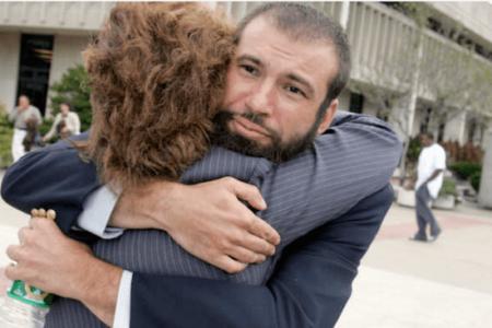 Bail bonding richmond couple hugging outsite city of richmond jail -min