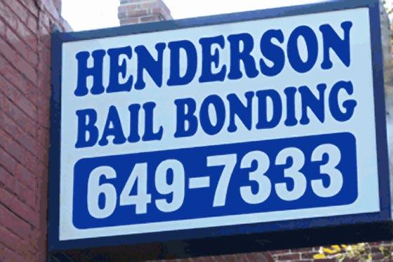 HENDERSON bail bonding henrico VA sign