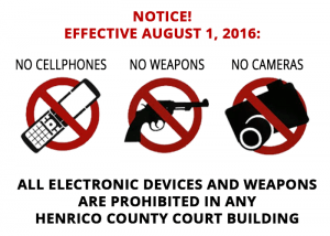 henrico county courhouse-rules-